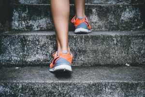 fitness trainer taking first step